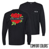 New! AGR Comfort Colors Black Rose Pocket Tee