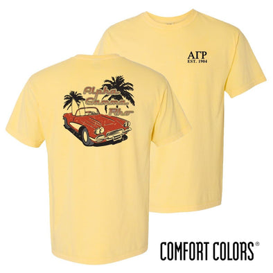 New! AGR Comfort Colors Yellow Hot Rod Short Sleeve Tee