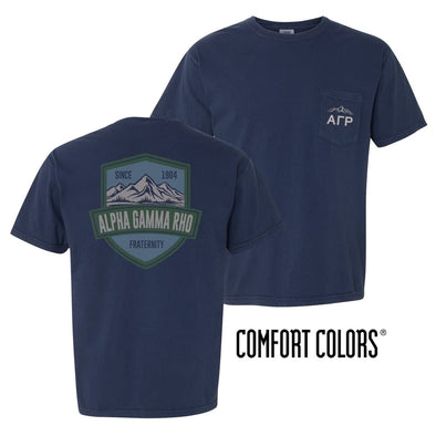 AGR Comfort Colors Mountain Pocket Tee