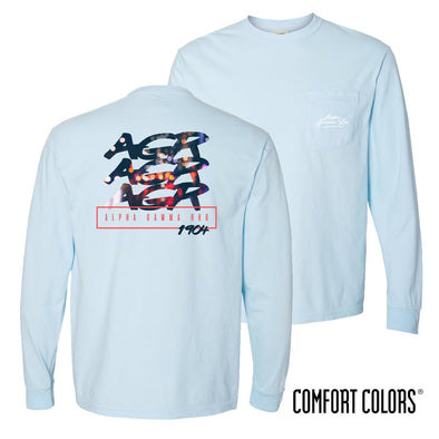 New! AGR Comfort Colors Chambray Long Sleeve Urban Tee