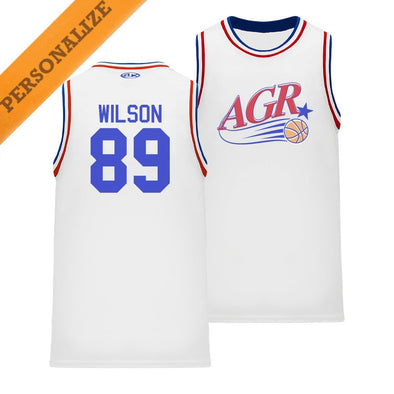 AGR Personalized Retro Swish Basketball Jersey