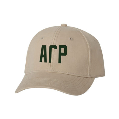AGR Structured Greek Letter Hat