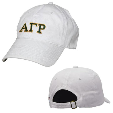 AGR White Greek Letter Adjustable Hat