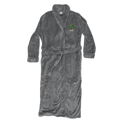New! AGR Personalized Charcoal Ultra Soft Robe
