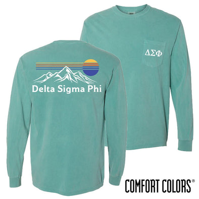 New! Delta Sig Retro Mountain Comfort Colors Tee