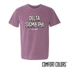 New! Delta Sig Comfort Colors Short Sleeve Berry Retro Tee