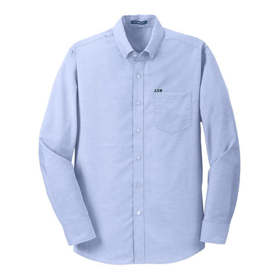 Sale! Delta Sig Light Blue Button Down Shirt