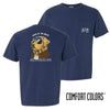 Delta Sig Comfort Colors Short Sleeve Navy Patriot Retriever Tee