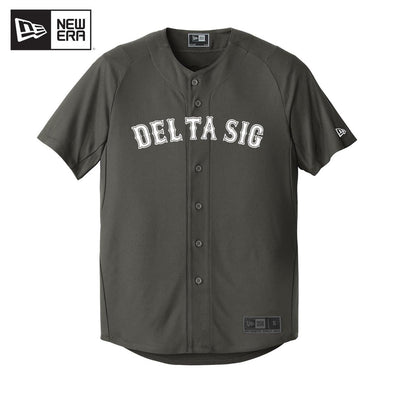 Delta Sig New Era Graphite Baseball Jersey