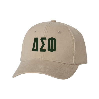 Delta Sig Structured Greek Letter Hat