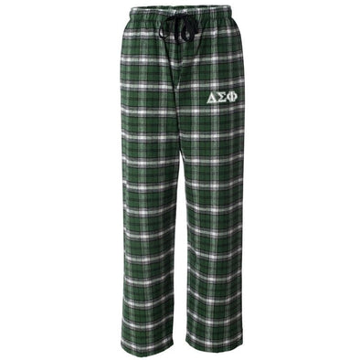 Delta Sig Forest Plaid Flannel Pants