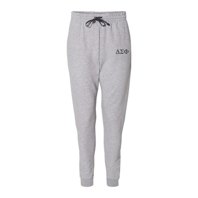 Delta Sig Heather Grey Contrast Joggers