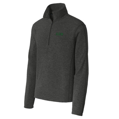 Delta Sig Charcoal 1/4-Zip Microfleece Jacket