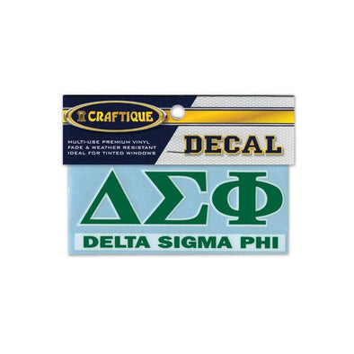 Delta Sig Greek Letter Decal