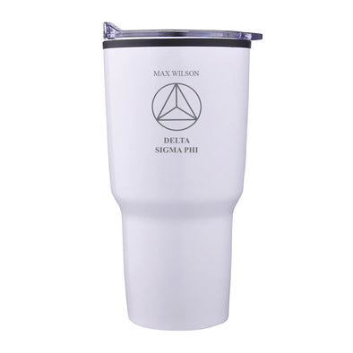 New! Delta Sig Personalized 30oz White Tumbler
