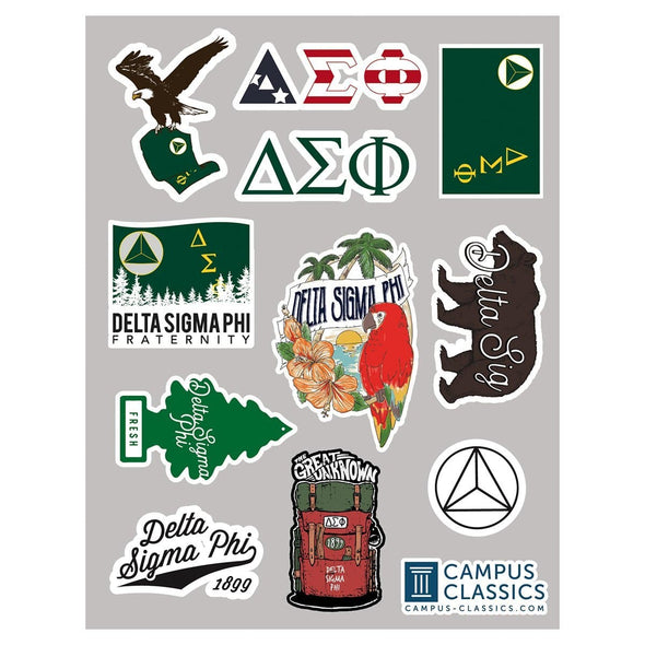 New! Delta Sig Sticker Sheet