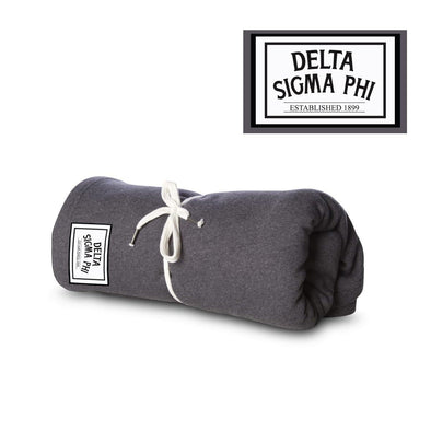 New! Delta Sig Sewn Patch Blanket