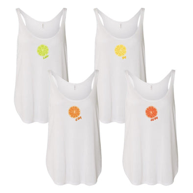 Citrus Slice Fam Tanks