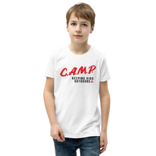 Load image into Gallery viewer, C.A.M.P. Kid's Premium Tee - White