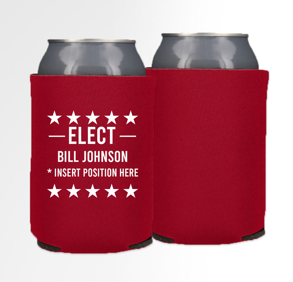 Pre-Printed Foam Can - Election 03