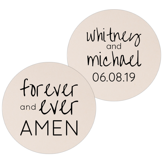 Coaster - Double Side - Wedding Template 14