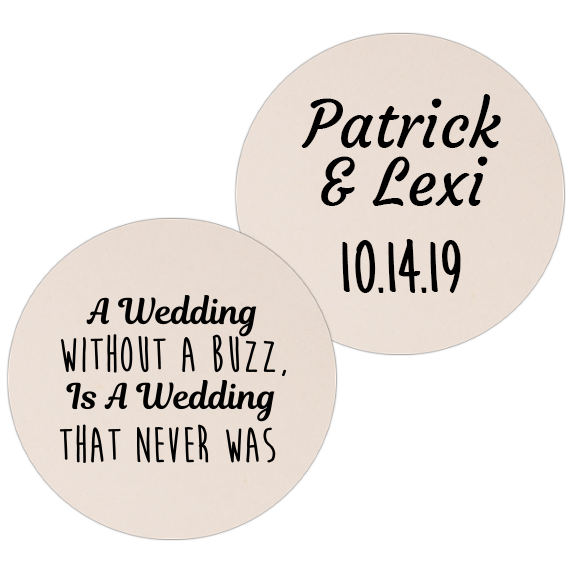 Coaster - Double Side - Wedding Template 23