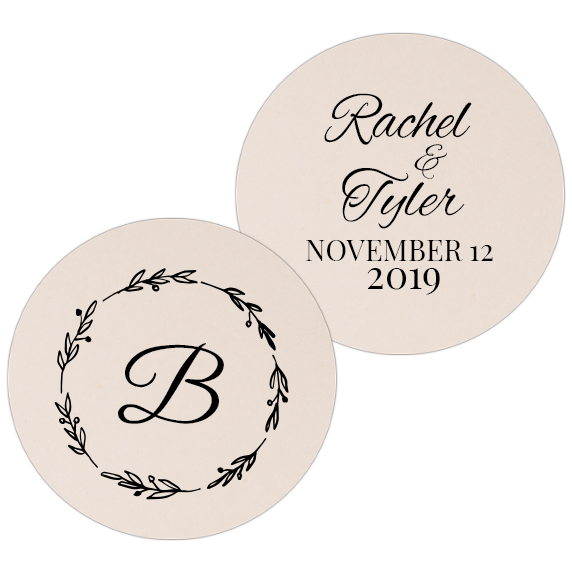 Coaster - Double Side - Wedding Template 25