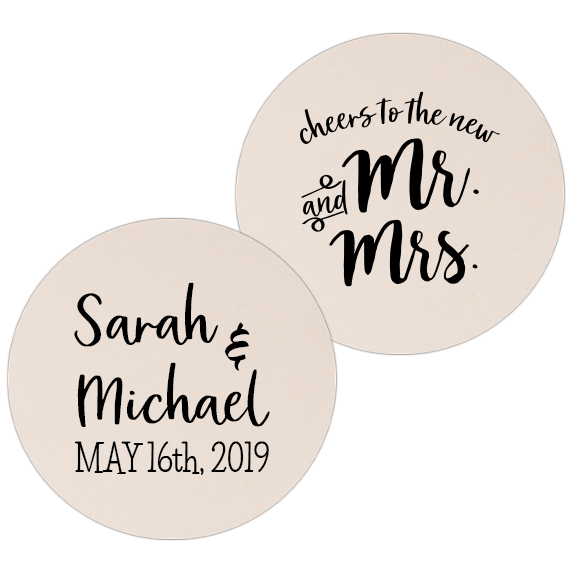 Coaster - Double Side - Wedding Template 28