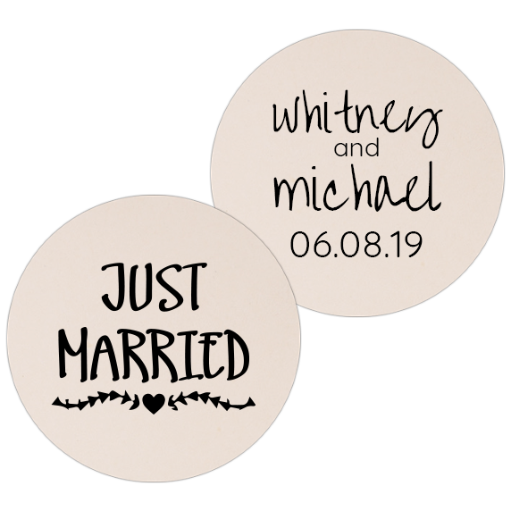 Coaster - Double Side - Wedding Template 44
