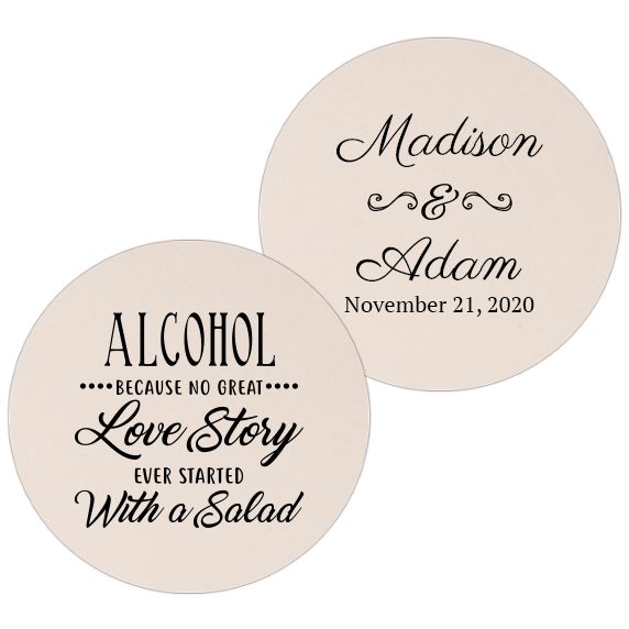 Coaster - Double Side - Wedding Template 59