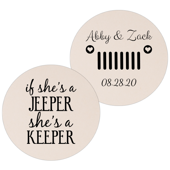 Coaster - Double Side - Wedding Template 63