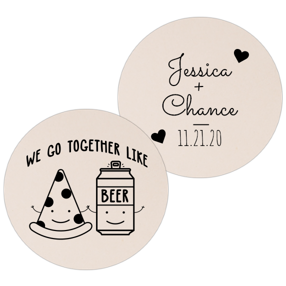 Coaster - Double Side - Wedding Template 71
