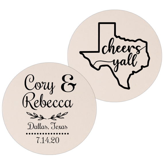 Coaster - Double Side - Wedding Template 75