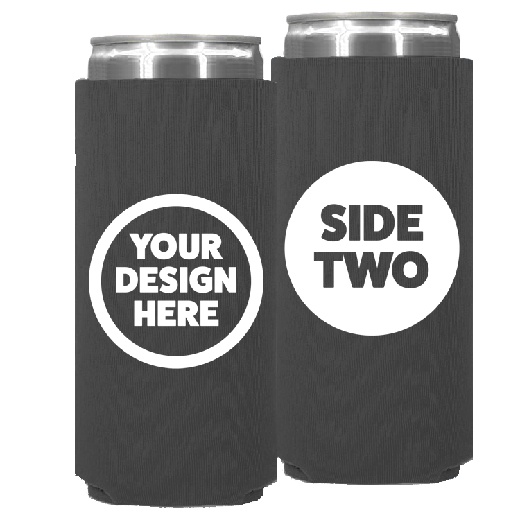 Neoprene Slim Can - One Color, Double Sided Print