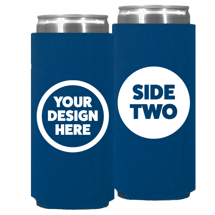 Foam Slim Can - One Color, Double Sided Print