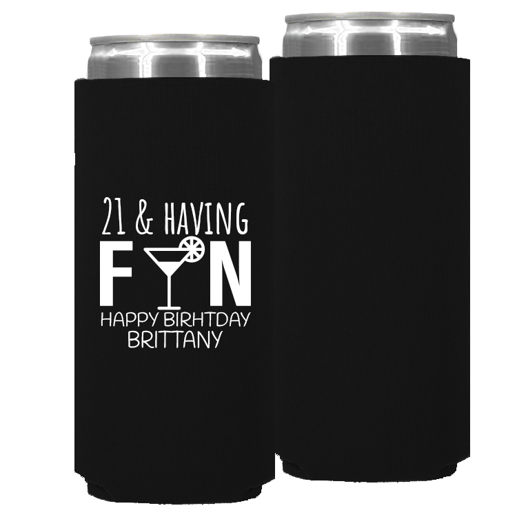 Birthday Template 07 – Neoprene Slim Can