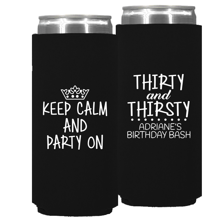 Birthday Template 08 – Neoprene Slim Can