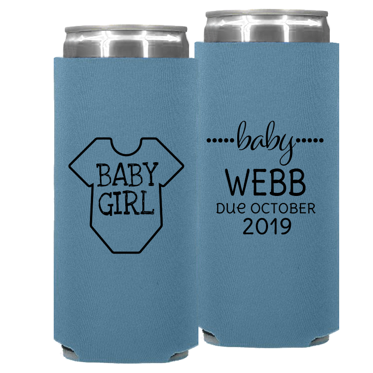Baby Shower Template 08 – Neoprene Slim Can