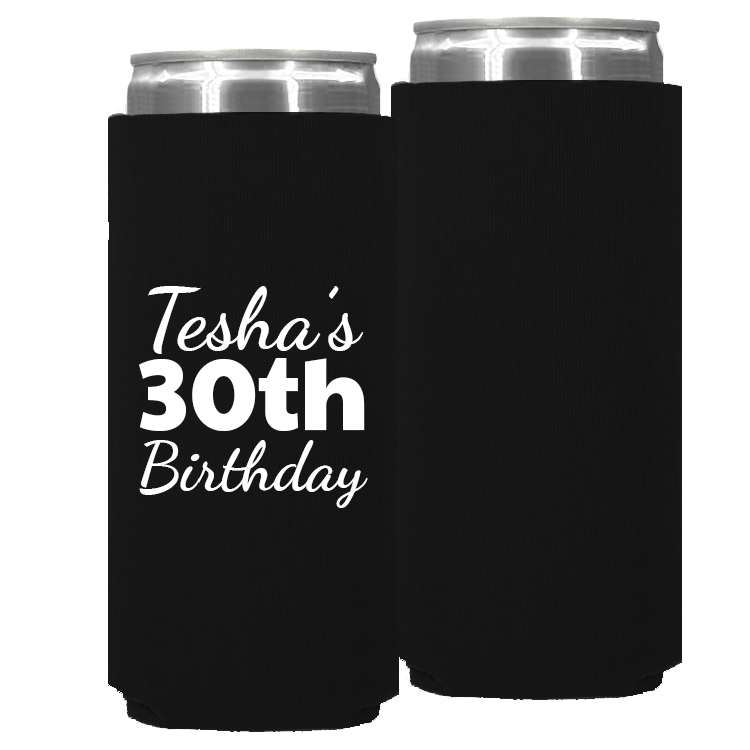 Birthday Template 14 – Neoprene Slim Can