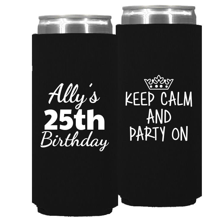 Birthday Template 15 – Neoprene Slim Can