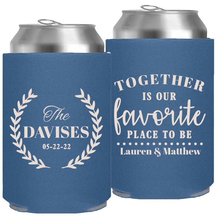 Wedding Template 50 – Neoprene Slim Can