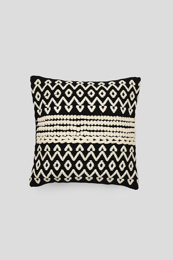 Beaded woven cushion cover