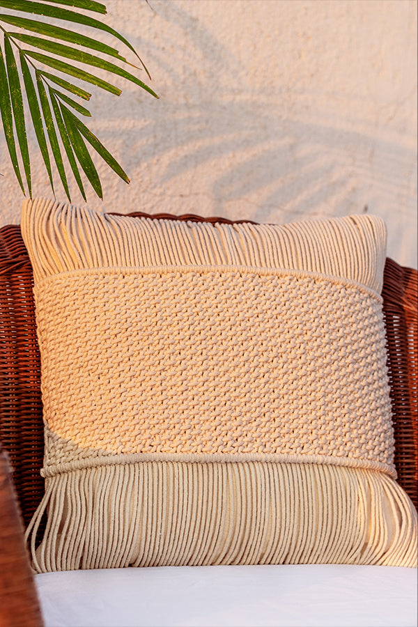 Nohea Macrame Cushion Cover