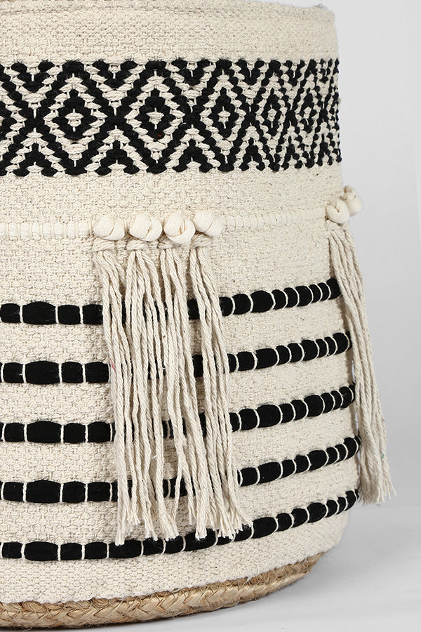 Jute and Fringe basket