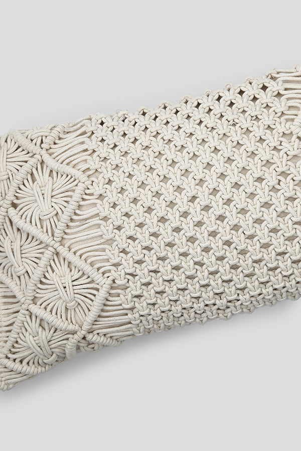 Macrame cushion cover