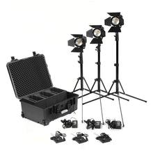 3 x Practilite 602 kit with stands and V-lock battery plates - (Kit-2)