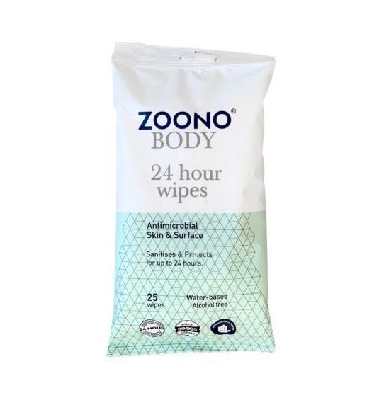 OneSpray 24 Hour Antibacterial Skin & Surface Wipes powered by Zoono technology | 25 Wipes