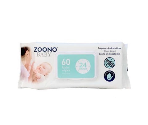 OneSpray24 Hour Antibacterial Baby Wipes powered by Zoono technology | 60 Wipes