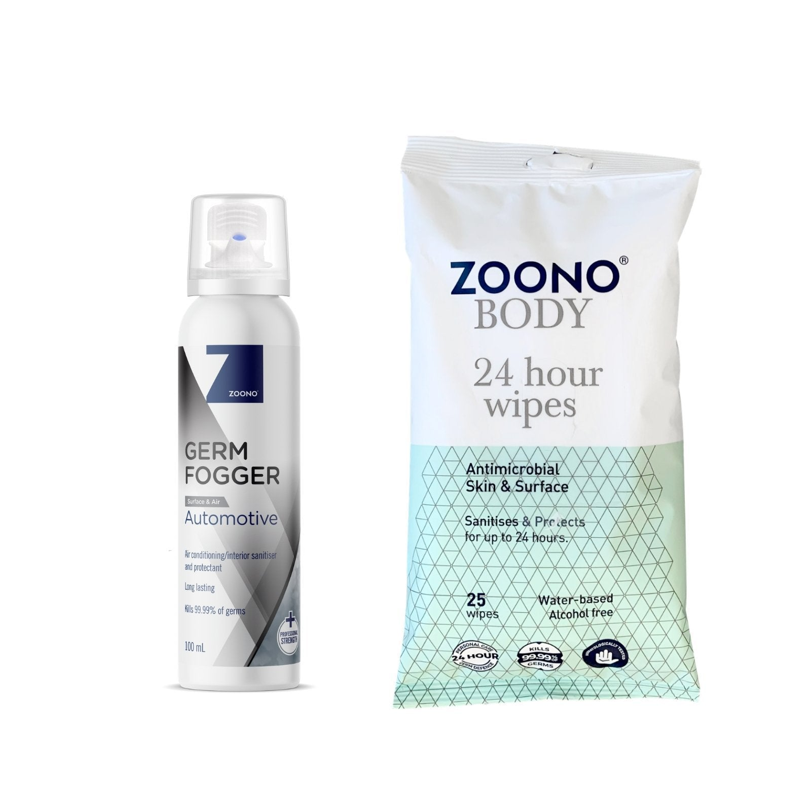 OneSpray Antibacterial Car Essentials powered by Zoono technology | 2 Items