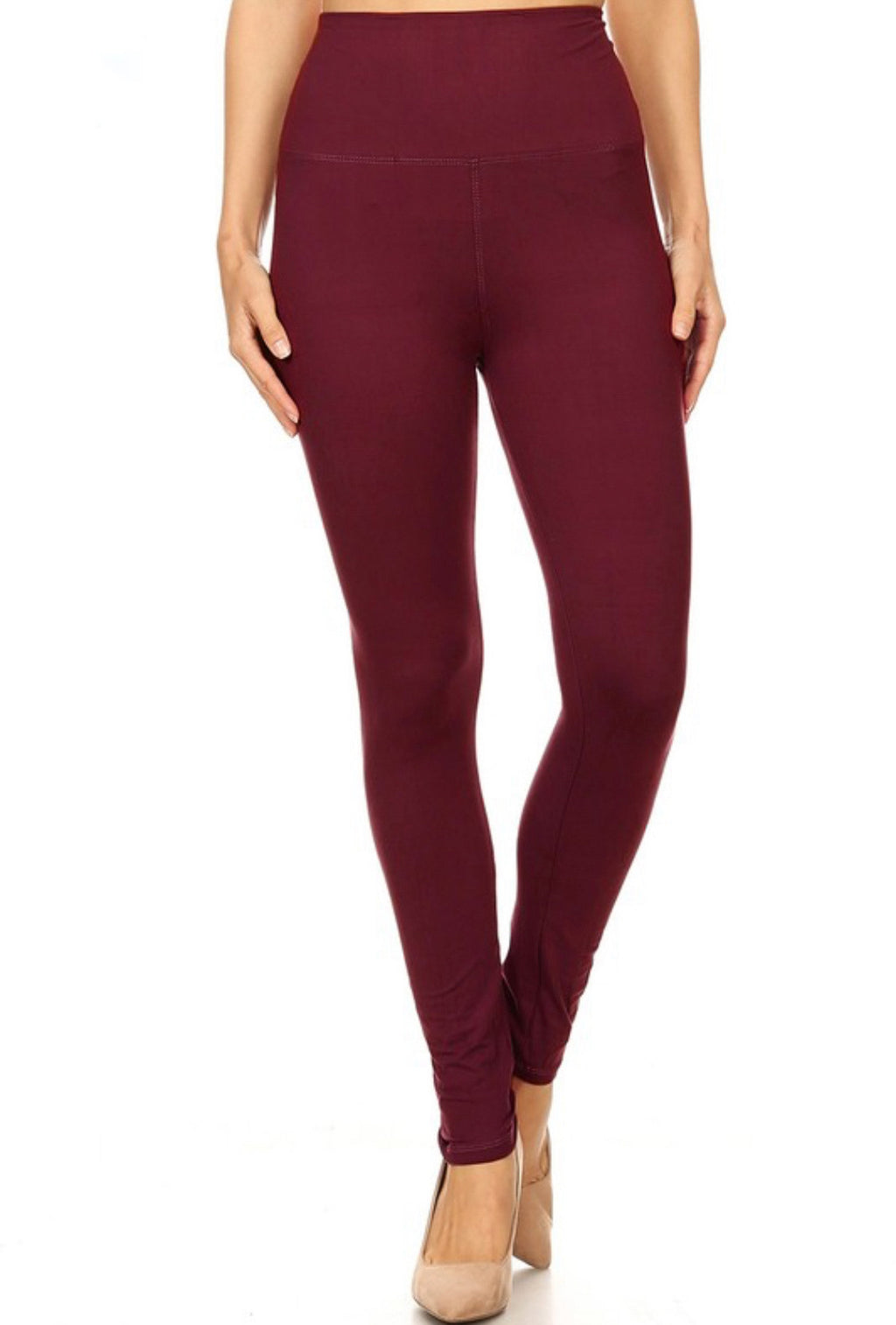 High Waist Extra Wide Band Leggings One Size